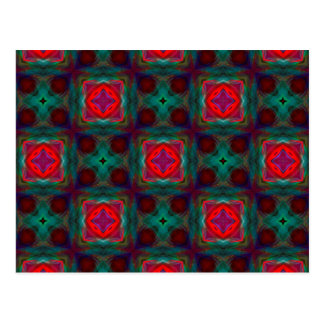 Abstract Fractal Pattern Postcard