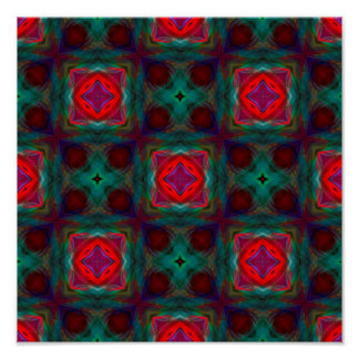 Abstract Fractal Pattern Poster