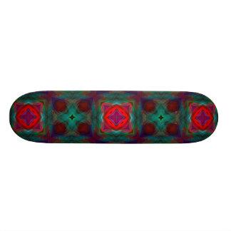 Abstract Fractal Pattern Skateboard
