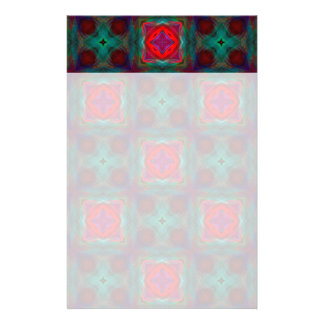 Abstract Fractal Pattern Stationery Paper