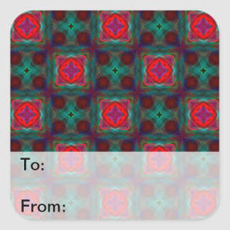 Abstract Fractal Pattern Square Sticker