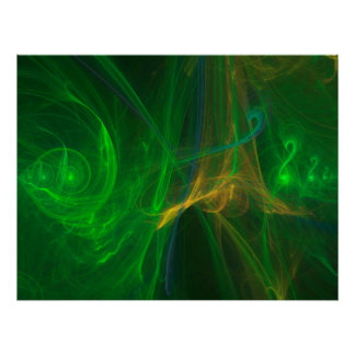 abstract fractal poster