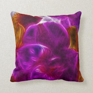 Abstract Fractal Purple Flower Cushion