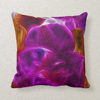 Abstract Fractal Purple Flower Pillows
