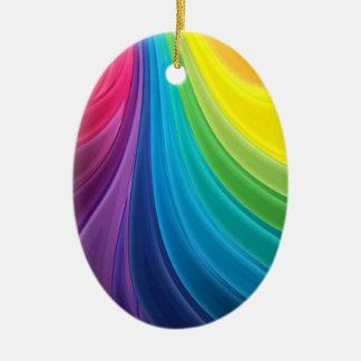 Abstract Fractal Rainbow Ornament