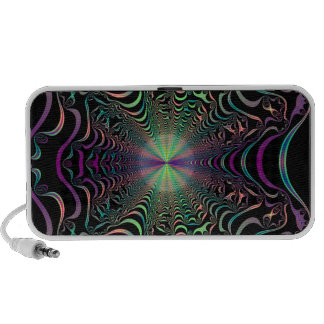 Abstract Fractal Web Doodle Speakers
