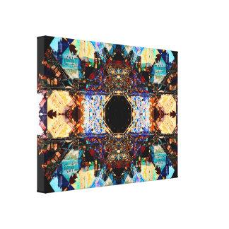 Abstract Fractalization Mandala Canvas Print