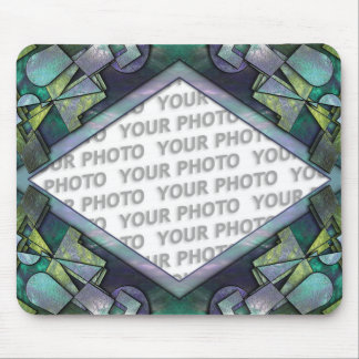 Abstract frame ARTs 1 + your photo Mouse Pad