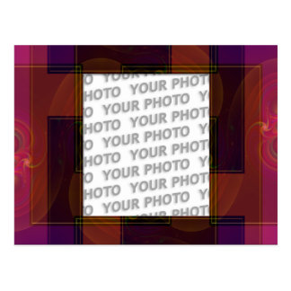 Abstract frame ARTs 3 + your photo Postcard