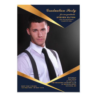 Abstract Frame Vertical Photo Invitation