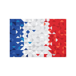 Abstract France Flag, French Colors canvas
