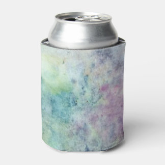 abstract free hand drawing from watercolor can cooler