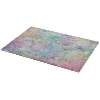 abstract free hand drawing from watercolor cutting board