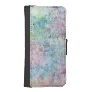 abstract free hand drawing from watercolor iPhone SE/5/5s wallet case