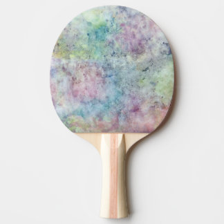 abstract free hand drawing from watercolor ping pong paddle