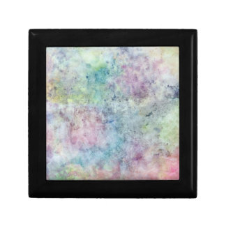 abstract free hand drawing from watercolor small square gift box