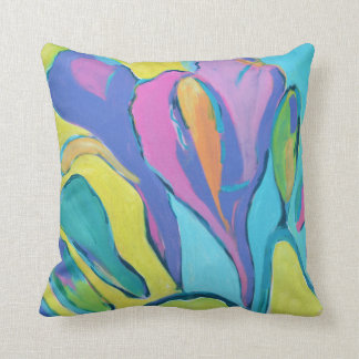 Abstract Freesia in Dazzling color Throw Cushions