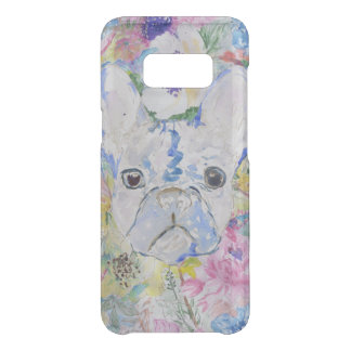 Abstract French bulldog floral watercolor paint Uncommon Samsung Galaxy S8 Case
