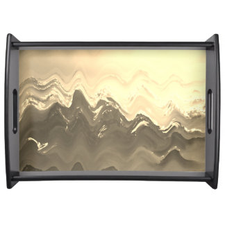 Abstract French cream and coffee serving tray
