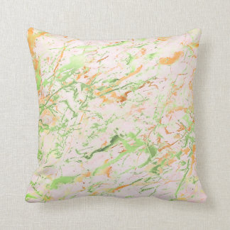 Abstract Fresh Mint Pink Gold Marble Luxury Pastel Cushion