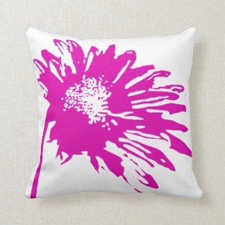 Abstract Fuchsia Flower Throw Cushions