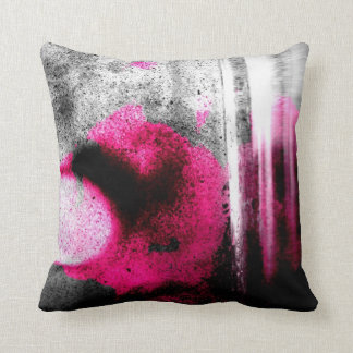 Abstract Fuchsia, Grey and Black Grain Photo Art Throw Pillow