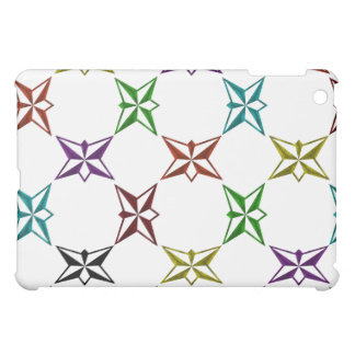 Abstract Funky Colorful Stars iPad Mini Cover