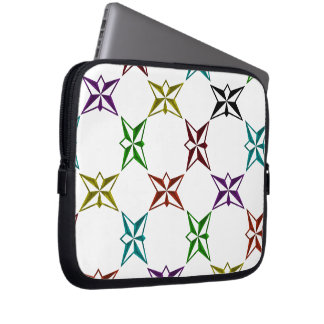Abstract Funky Colourful Stars Laptop Sleeves