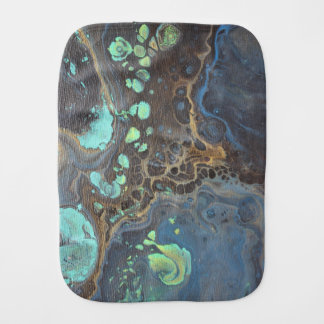 Abstract Funky Galaxy Baby Burp Cloth