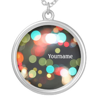Abstract Funky Hip Colorful Circle Bokeh Lights Custom Jewelry