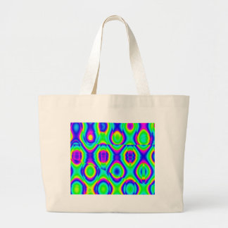Abstract Funky Neon Tote Bags