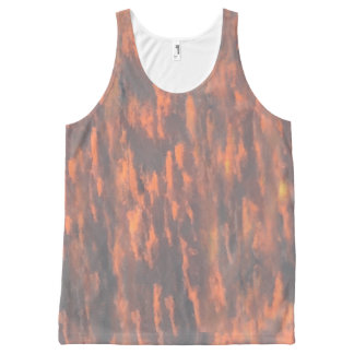 Abstract, Funky, Peach Grey, Cool All-Over Print Tank Top