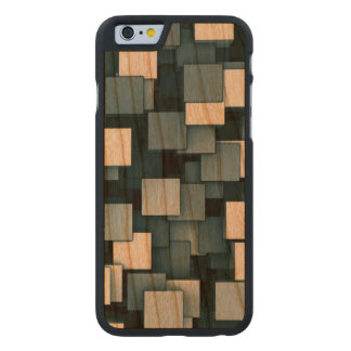 Abstract Futuristic Blue Cube Voxel Pattern Carved® Cherry iPhone 6 Case