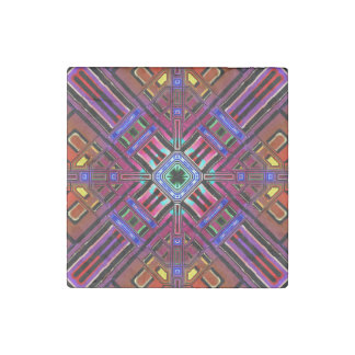 Abstract Futuristic Fractal Stone Magnet