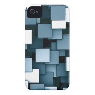 Abstract Futuristic Green Cube Voxel Pattern iPhone 4 Case-Mate Case