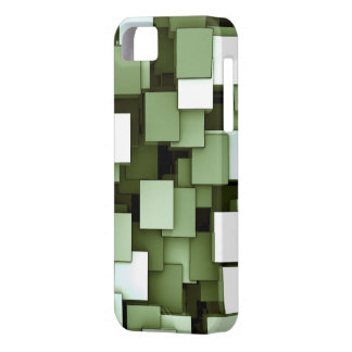 Abstract Futuristic Green Cube Voxel Pattern iPhone 5 Case