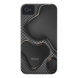Abstract  Futuristic Metallic Liquid iPhone 4 Cases