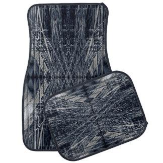Abstract futuristic pattern car mat