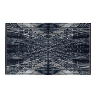 Abstract futuristic pattern iPad folio case