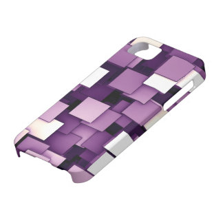 Abstract Futuristic Purple Cube Voxel Pattern Case For The iPhone 5