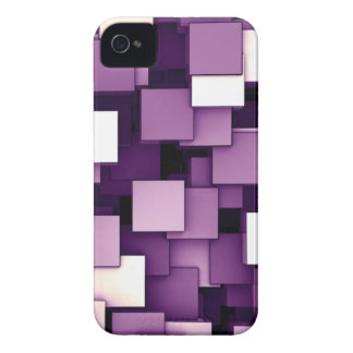 Abstract Futuristic Purple Cube Voxel Pattern Case-Mate iPhone 4 Cases