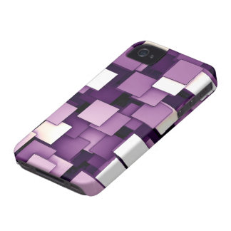 Abstract Futuristic Purple Cube Voxel Pattern Case-Mate iPhone 4 Case
