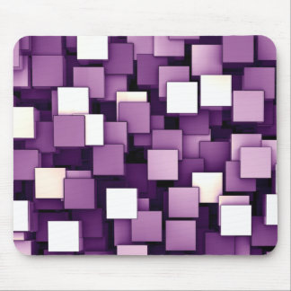 Abstract Futuristic Purple Cube Voxel Pattern Mouse Pad