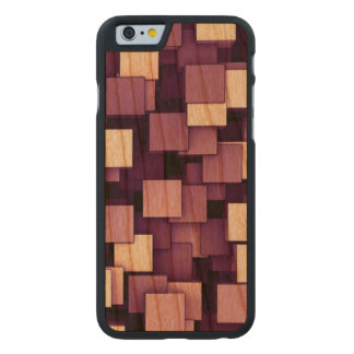 Abstract Futuristic Purple Cube Voxel Pattern Carved® Cherry iPhone 6 Slim Case