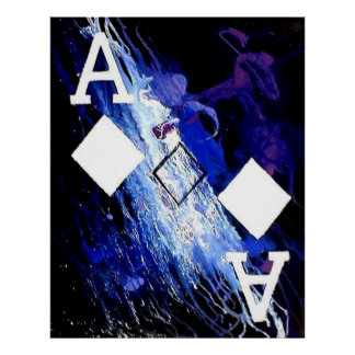 ABSTRACT GALAXY ACES OF DIAMONDS POSTER