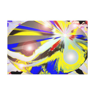 Abstract Galaxy Egg Stretched Canvas Prints