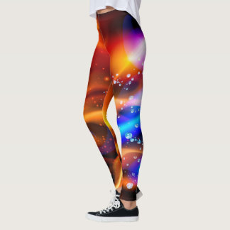 Abstract Galaxy System Leggings