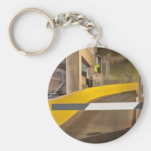Abstract Garage Key Chain