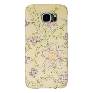 Abstract Garden Galaxy S6 Case (Vintage)