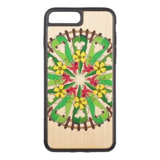 Abstract Garden Illustration Carved iPhone 8 Plus/7 Plus Case